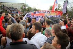 Military parade in BELGRADE Royalty Free Stock Image