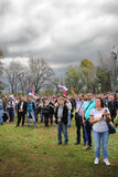 Military parade in BELGRADE Stock Photo