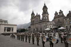 Military Parade in Bogota, Colombia Royalty Free Stock Photo