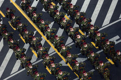Military parade, in Bucharest Stock Photo