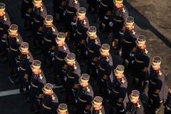Military parade celebrating Romania`s National Day royalty free stock photography