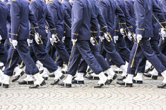 Military parade during the ceremonial Stock Photography
