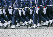 Military parade during the ceremonial Royalty Free Stock Photos