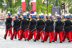 Military parade during the ceremonial Royalty Free Stock Photo