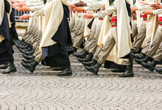 Military parade during the ceremonial Stock Photos