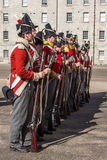 Military parade at the Collins Barracks in Dublin, Ireland, 2015 Stock Photography