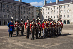Military parade at the Collins Barracks in Dublin, Ireland, 2015 Stock Photo