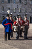 Military parade at the Collins Barracks in Dublin, Ireland, 2015 Royalty Free Stock Photography
