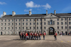 Military parade at the Collins Barracks in Dublin, Ireland, 2015 Stock Images