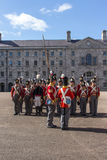 Military parade at the Collins Barracks in Dublin, Ireland, 2015 Royalty Free Stock Images
