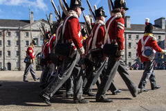 Military parade at the Collins Barracks in Dublin, Ireland, 2015 Royalty Free Stock Image