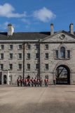 Military parade at the Collins Barracks in Dublin, Ireland, 2015 Stock Image