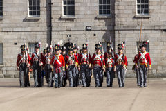 Military parade at the Collins Barracks in Dublin, Ireland, 2015 Royalty Free Stock Photo