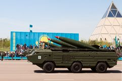 Military parade on the day of the Kazakh army Stock Photo