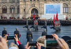 Military parade dedicated to the hisorical parade held in 1941 royalty free stock images