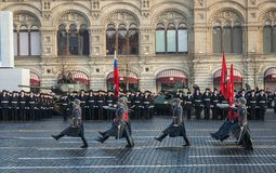 Military parade dedicated to the hisorical parade held in 1941 stock image