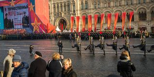 Military parade dedicated to the hisorical parade held in 1941 stock photo