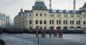 Military parade dedicated to the hisorical parade held in 1941 stock photography