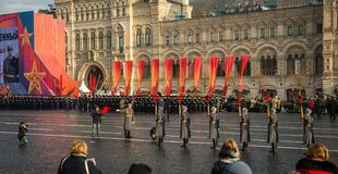 Military parade dedicated to the hisorical parade held in 1941 stock images