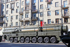 Military parade dedicated to Victory Day in World War II on in M Stock Images
