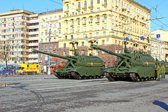 Military parade dedicated to Victory Day in World War II in Mosc Royalty Free Stock Photography