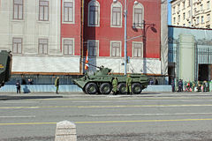 Military parade dedicated to Victory Day in World War II in Mosc Royalty Free Stock Photos
