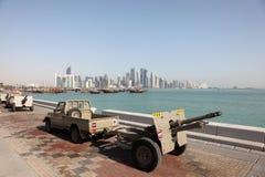 Military parade in Doha, Qatar Stock Image