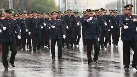 During Military parade for the Greece Independence Day is an annual national holiday stock video footage