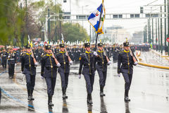During Military parade for the Greece Independence Day is an annual national holiday Royalty Free Stock Image