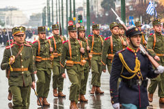 Military parade for the Greece Independence Day Stock Image