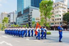 Military parade in Ho Chi Minh City Stock Image