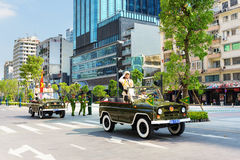 Military parade in Ho Chi Minh City Royalty Free Stock Photos