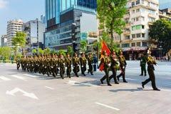 Military parade in Ho Chi Minh City Royalty Free Stock Photo