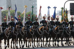 Military parade of Independence Day in Rio, Brazil Stock Photo
