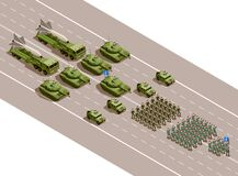 Free Military Parade Isometric Composition Stock Images - 211628724