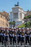 Military parade at Italian National Day Royalty Free Stock Photos