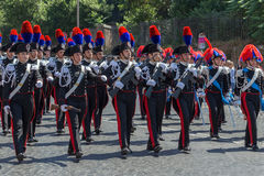 Military parade at Italian National Day Royalty Free Stock Images