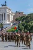 Military parade at Italian National Day Stock Photos