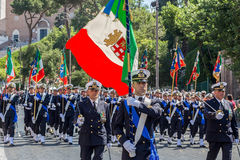 Military parade at Italian National Day Stock Image