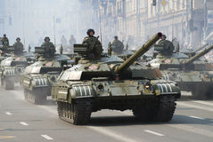 Military parade in Kiev stock photography
