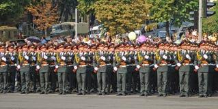 Military parade  in Kiev Stock Photos