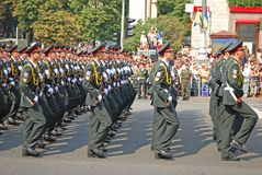 Military parade in Kiev (Ukraine) Stock Images