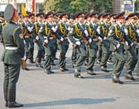 Military parade in Kiev (Ukraine) Stock Photos