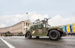Military parade in Kiev Royalty Free Stock Images