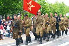 Military parade May 9, 2010 Stock Photo