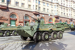 Military parade in Moscow Royalty Free Stock Images