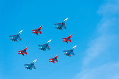 Military parade in Moscow, Russia, 2015 Royalty Free Stock Images