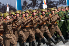 Military parade in Moscow, Russia, 2015 Royalty Free Stock Photography