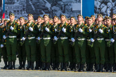 Military parade in Moscow, Russia, 2015 Stock Photography