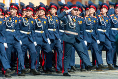 Military parade in Moscow, Russia, 2015 Stock Image